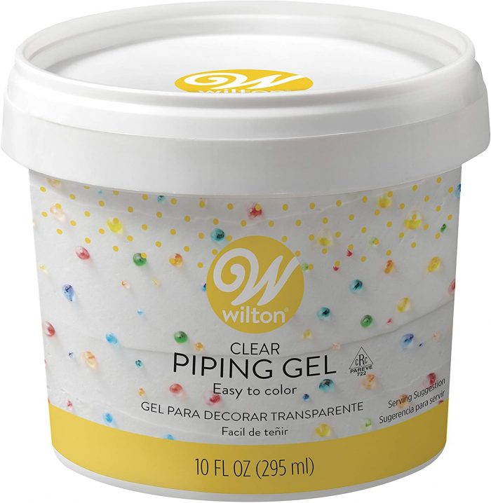 A tub of piping gel by Wilton